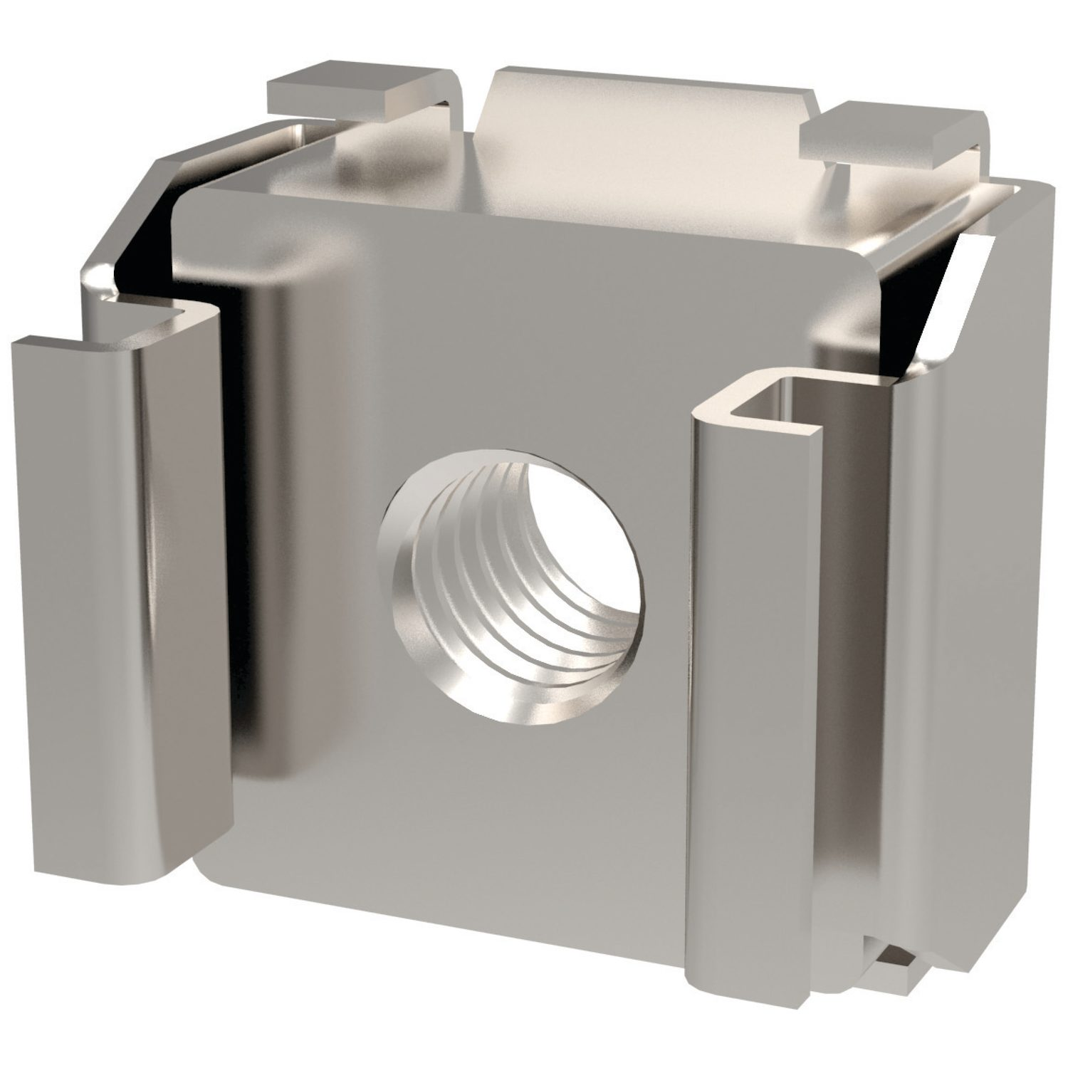 Cage Nuts Cage nuts manufactured in A2 stainless steel. Sizes range from M4 to M10. For panels up to 4,3.