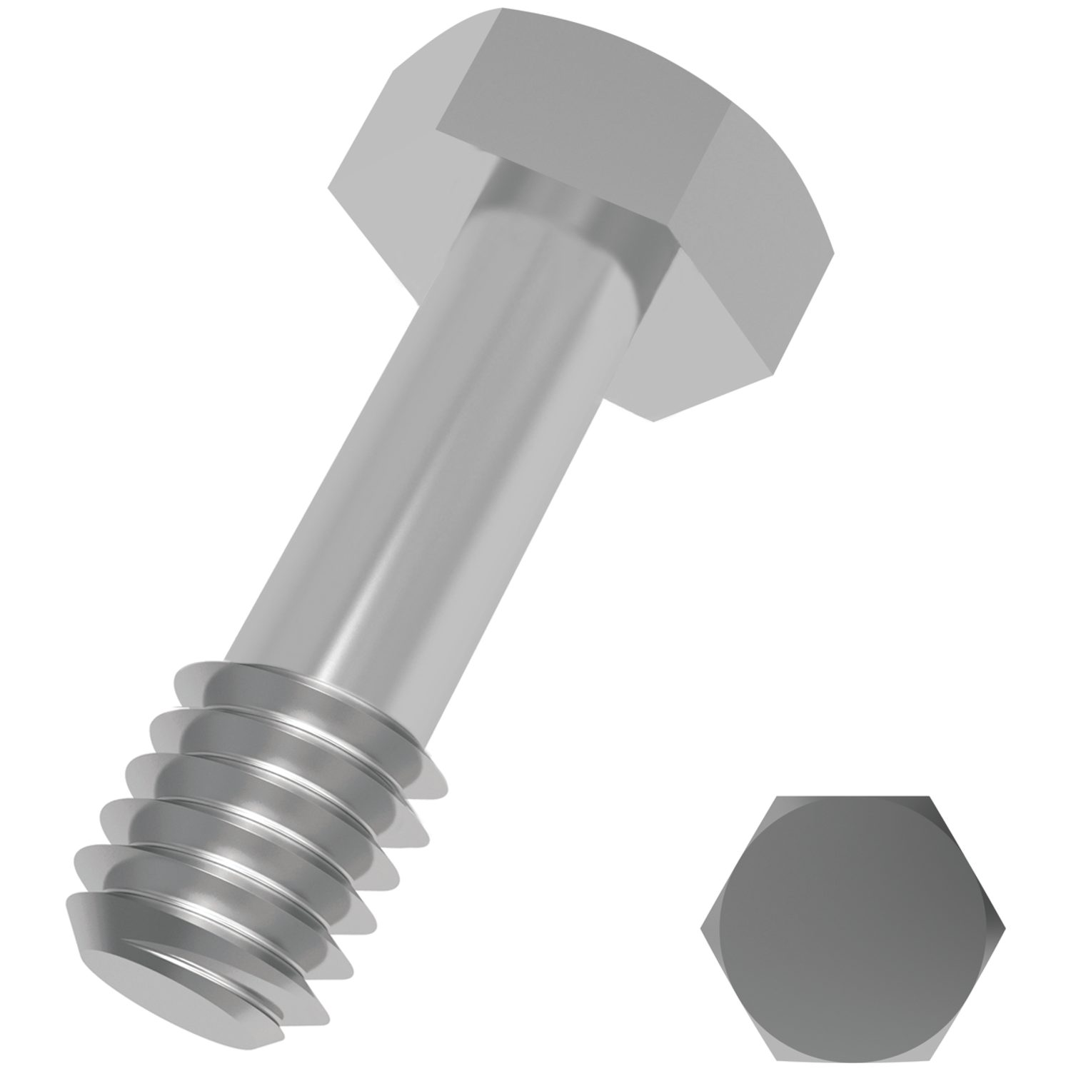 Captive Hex Bolts A2 stainless Our standard range of captive hex bolts/screws with threads sizes M3 to M12 - and a large number of lengths up to 80mm to suit customer applications