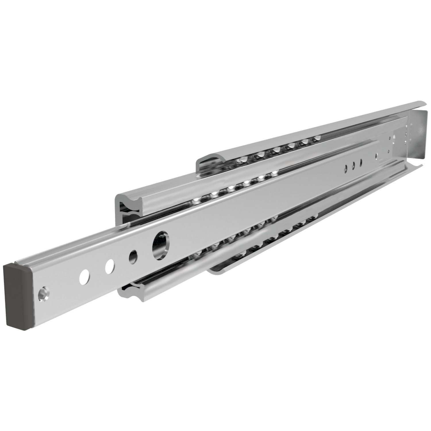 Fully Telescopic Drawer Slides Fully Telescopics drawer slides, loads up to 35kg per pair. Made from zinc-plated steel.
