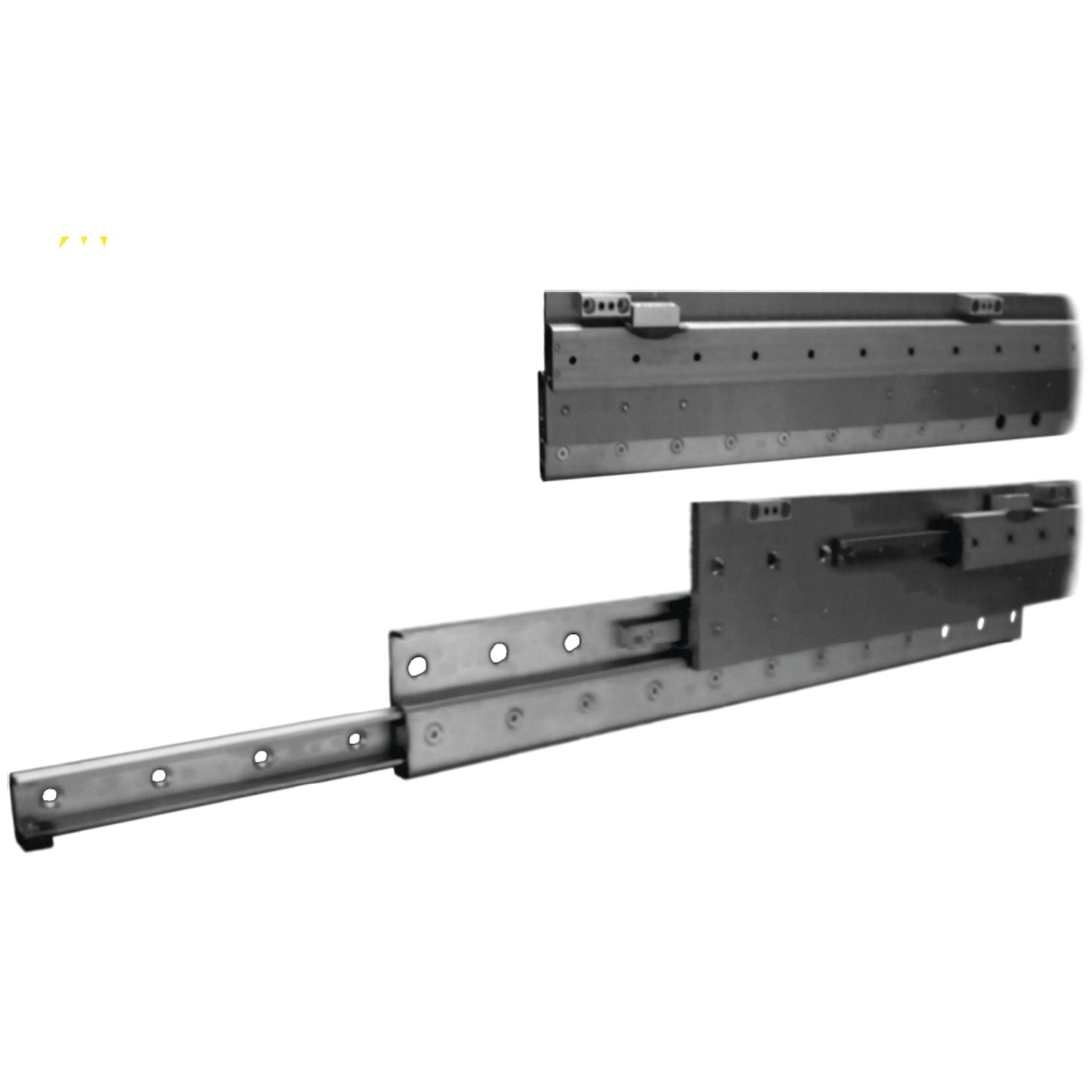 Extended Stroke Telescopic Slides These are extended stroke (150%), heavy duty telescopic rails, with high load capacity and stiffness.
