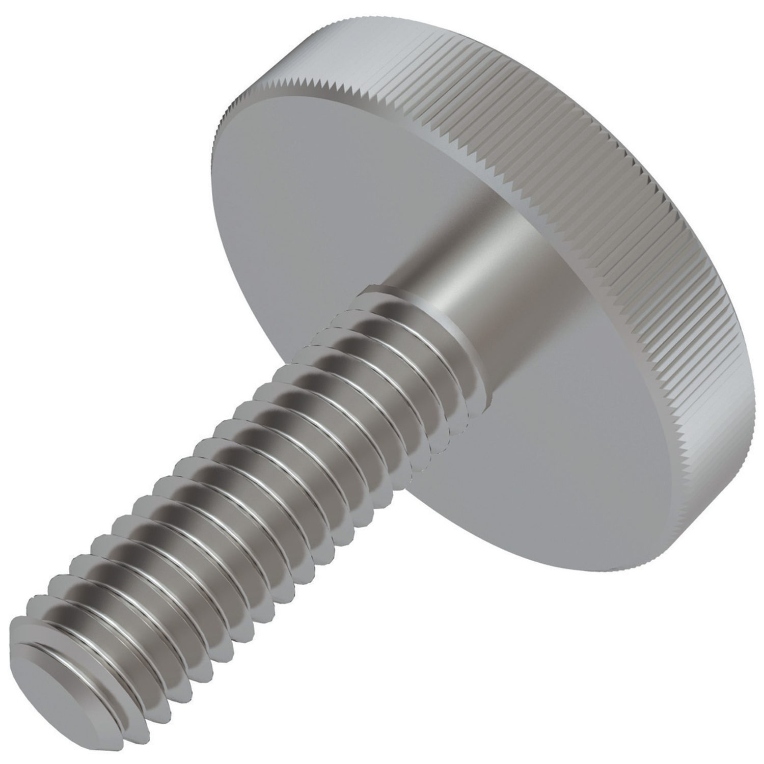Flat Knurled Thumb Screws Flat Knurled thumb screws manufactured to DIN 653 in steel. Solid one piece construction offers greater strength.