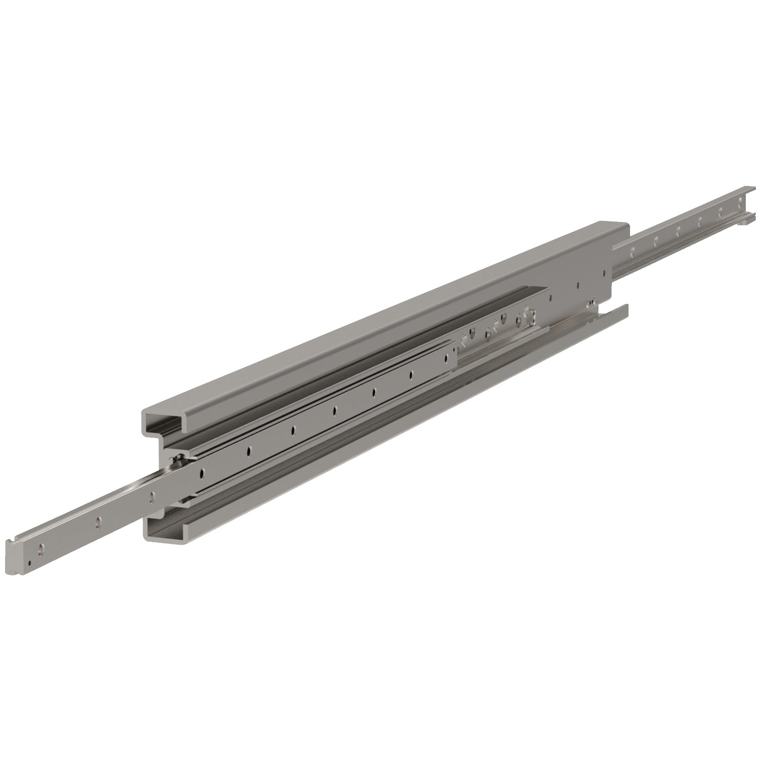 Fully Telescopic Slides Our lightest duty telescopic slides. Still from cold-drawn steel buth with unhardened raceways.