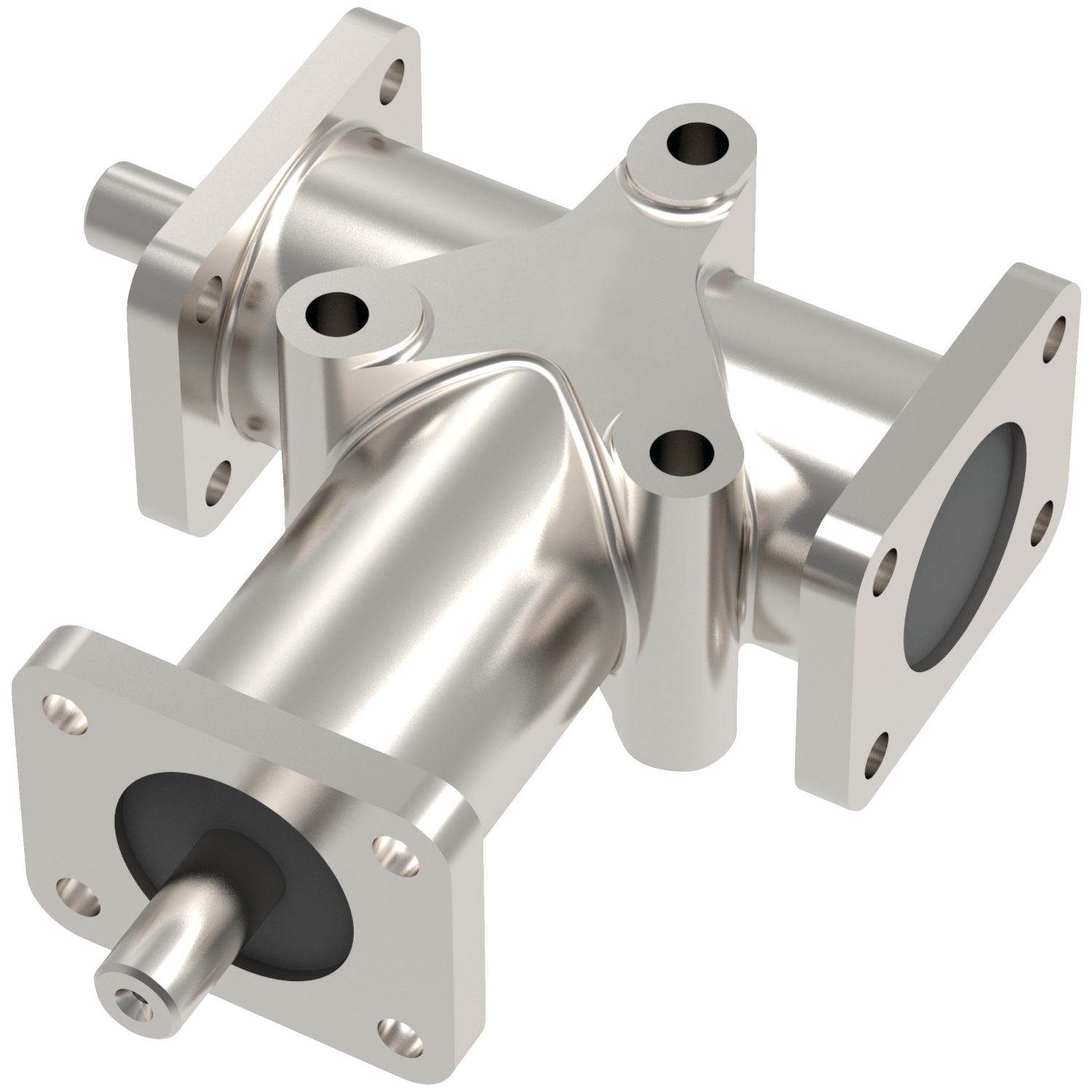 Stainless Right Angle Drives - 2 Shafts Stainless steel right angle gear boxes, two and three shafts.