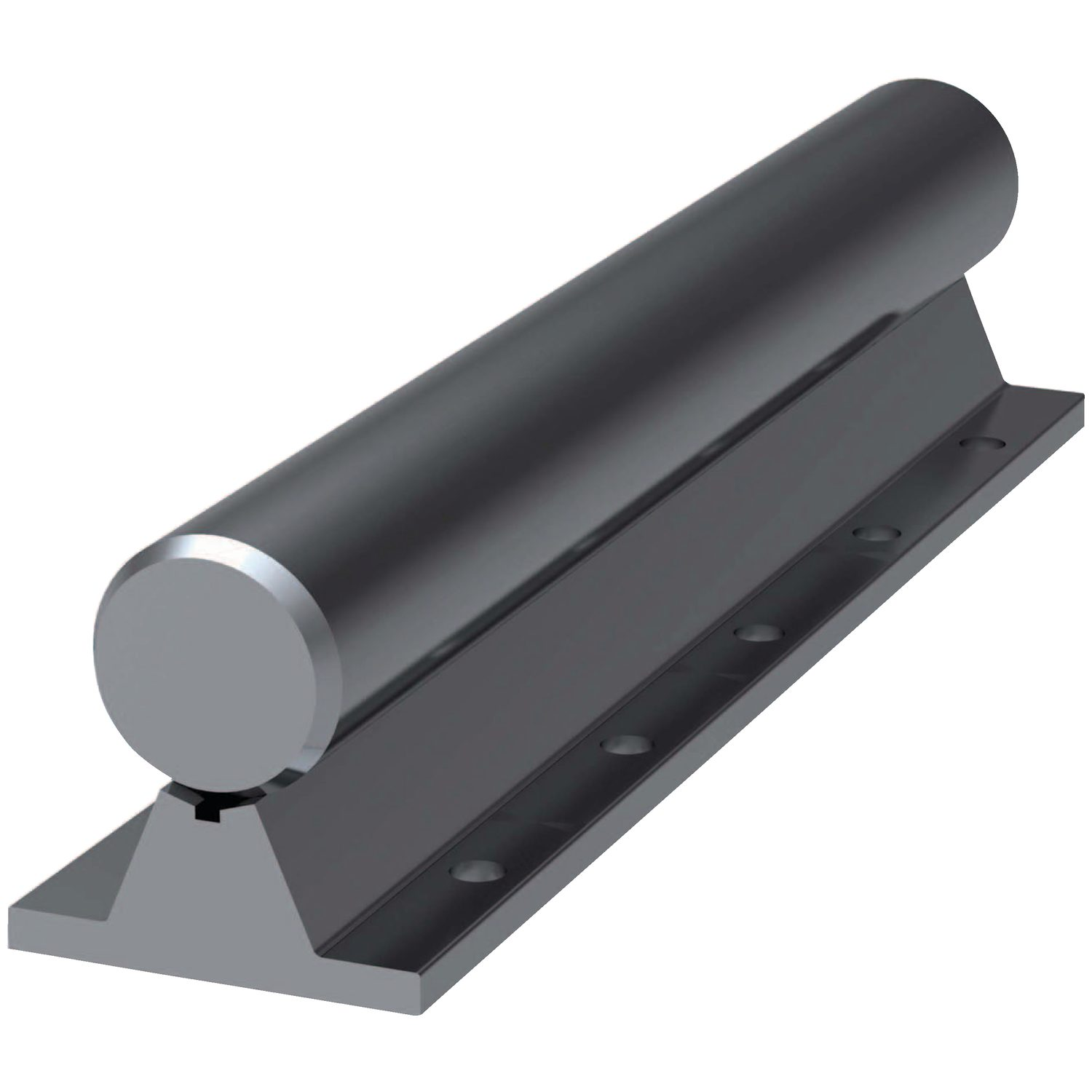 16Ø Shaft Support Rails Shaft support rail for 16mm shaft. Complete with shaft, up to 3 metres long.