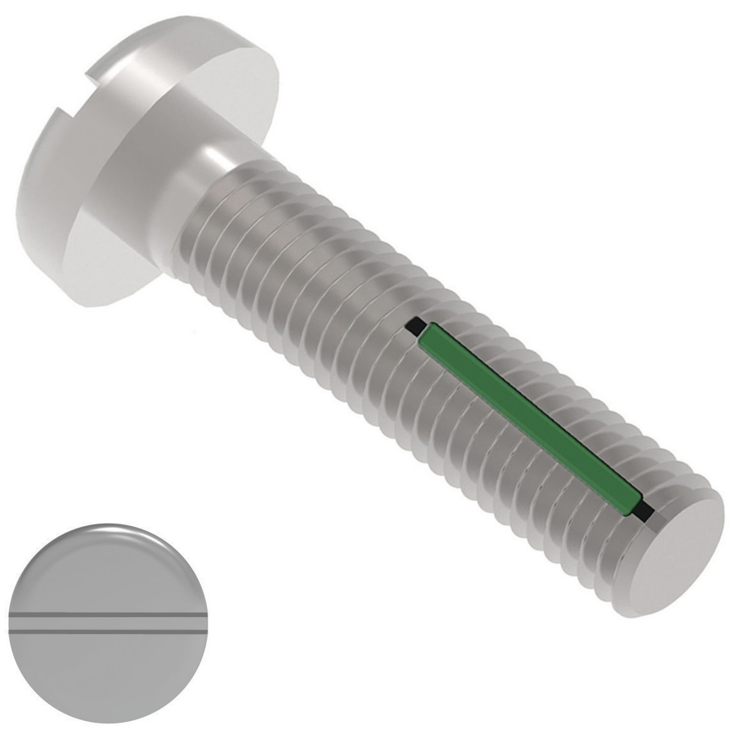 Self-Locking Pan Head Screws Surface finishes such as cadium plating, nickel plating, armalloy coating, black oxide coating - all available on request.