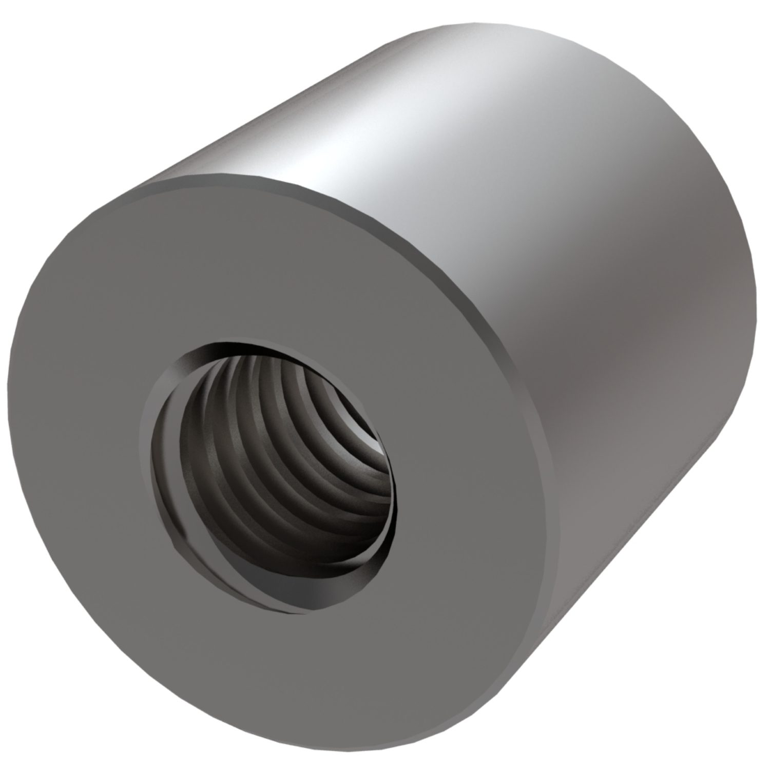 Cylindrical Stainless Steel Nuts Stainless steel lead screw nut for trapezoidal thread.