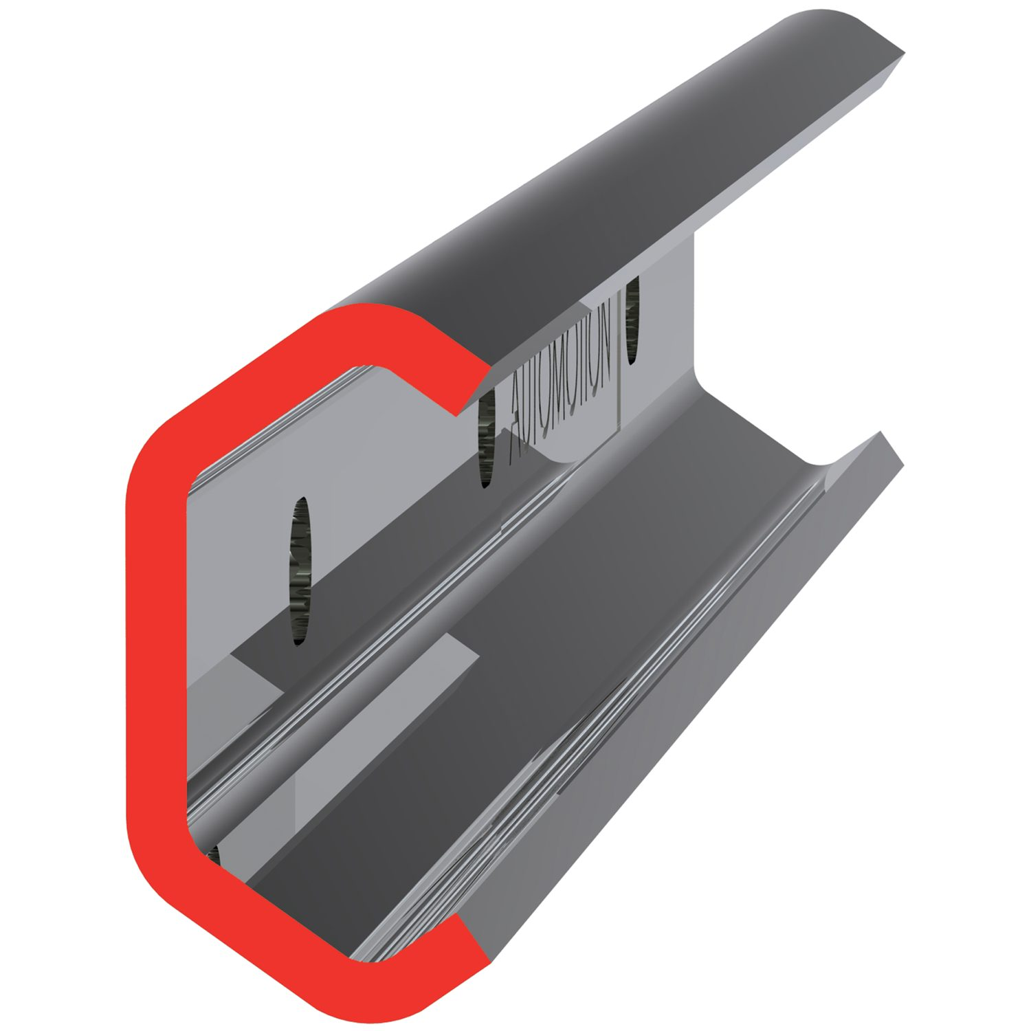 Stainless X Rail For less accurate and lower loads applications we have a range of pressed steel section rails in three sizes. The rails are zince plated and inexpensive. Stock length up to 3 metres.