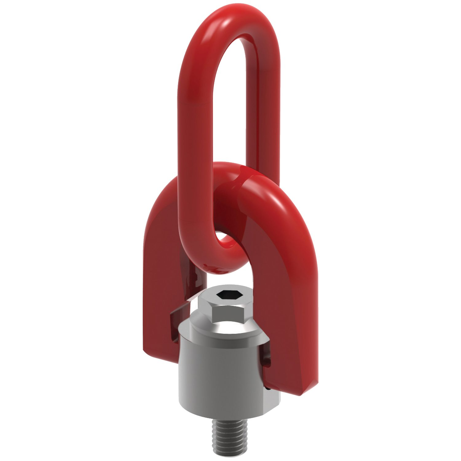 Triple Swivel Rings Male Triple swivel lifting eye bolts. M8 to M56 and for loads up to 22 tons per ring.