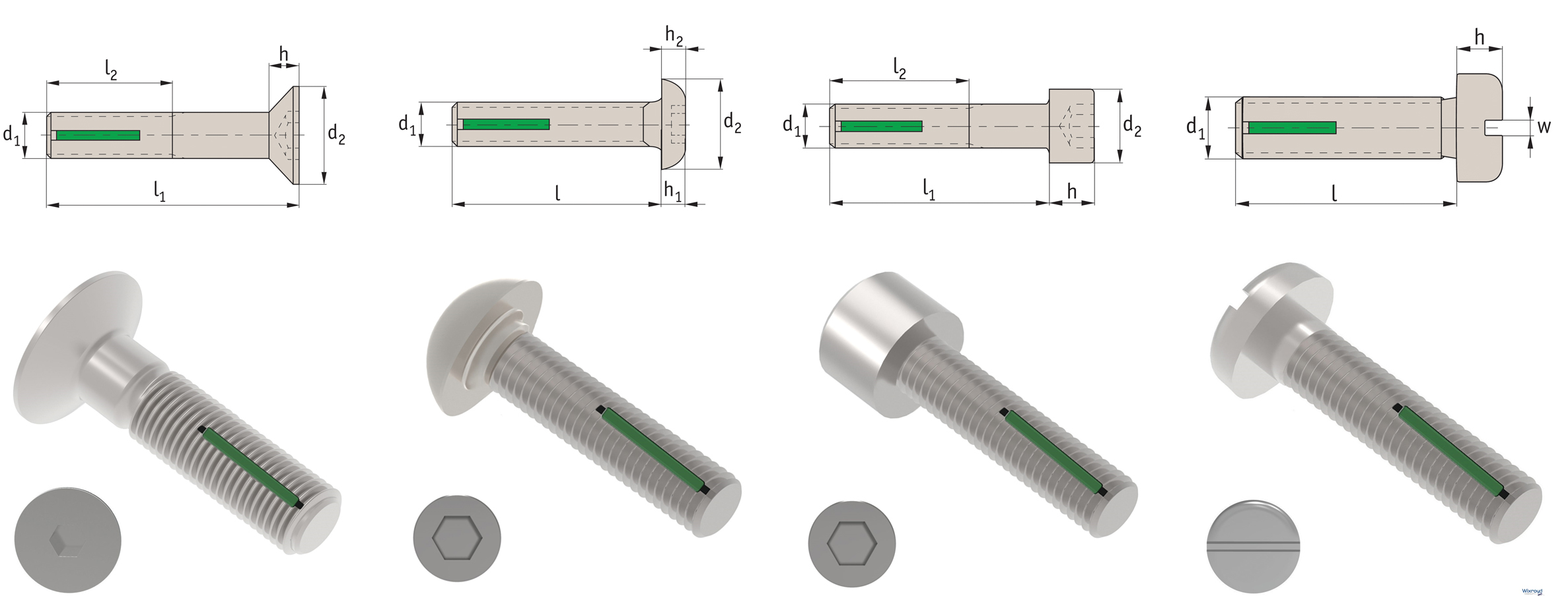Automotion Self Locking Screws