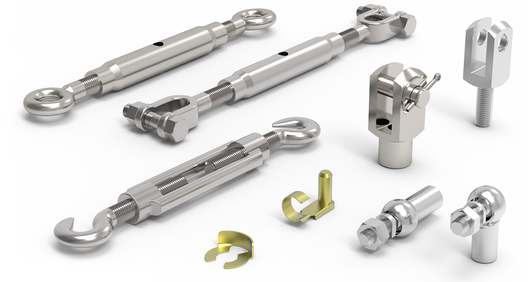 Clevis Joints, Turnbuckles & Ball & Socket Joint