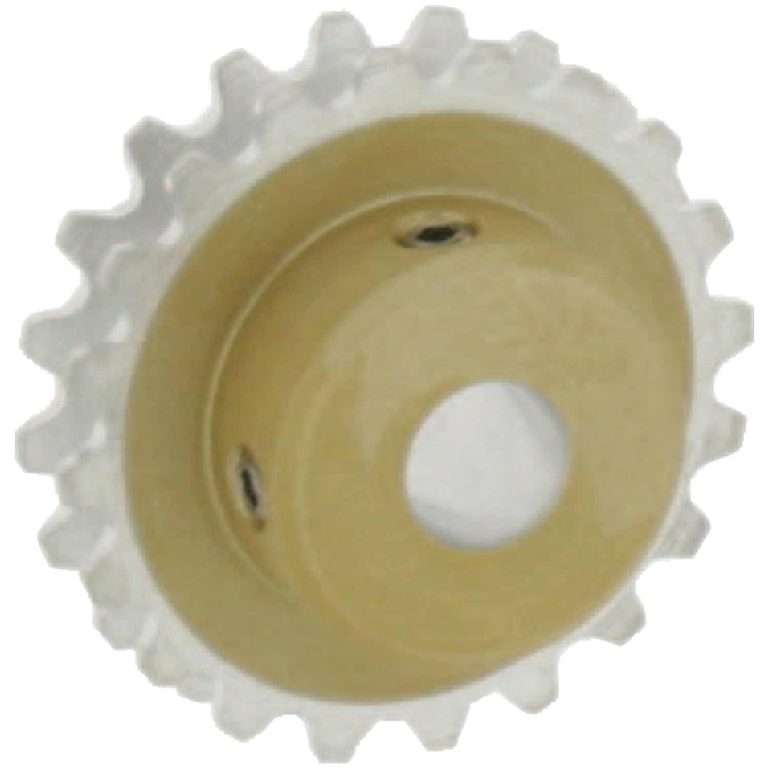 R1053 - Idler 3-D Pulleys - aluminium, pin hub