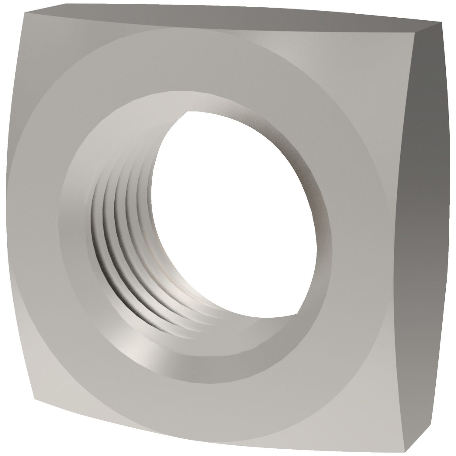 Product P0324.A4, Chamfered Square Nuts Chamfered - A4 stainless /