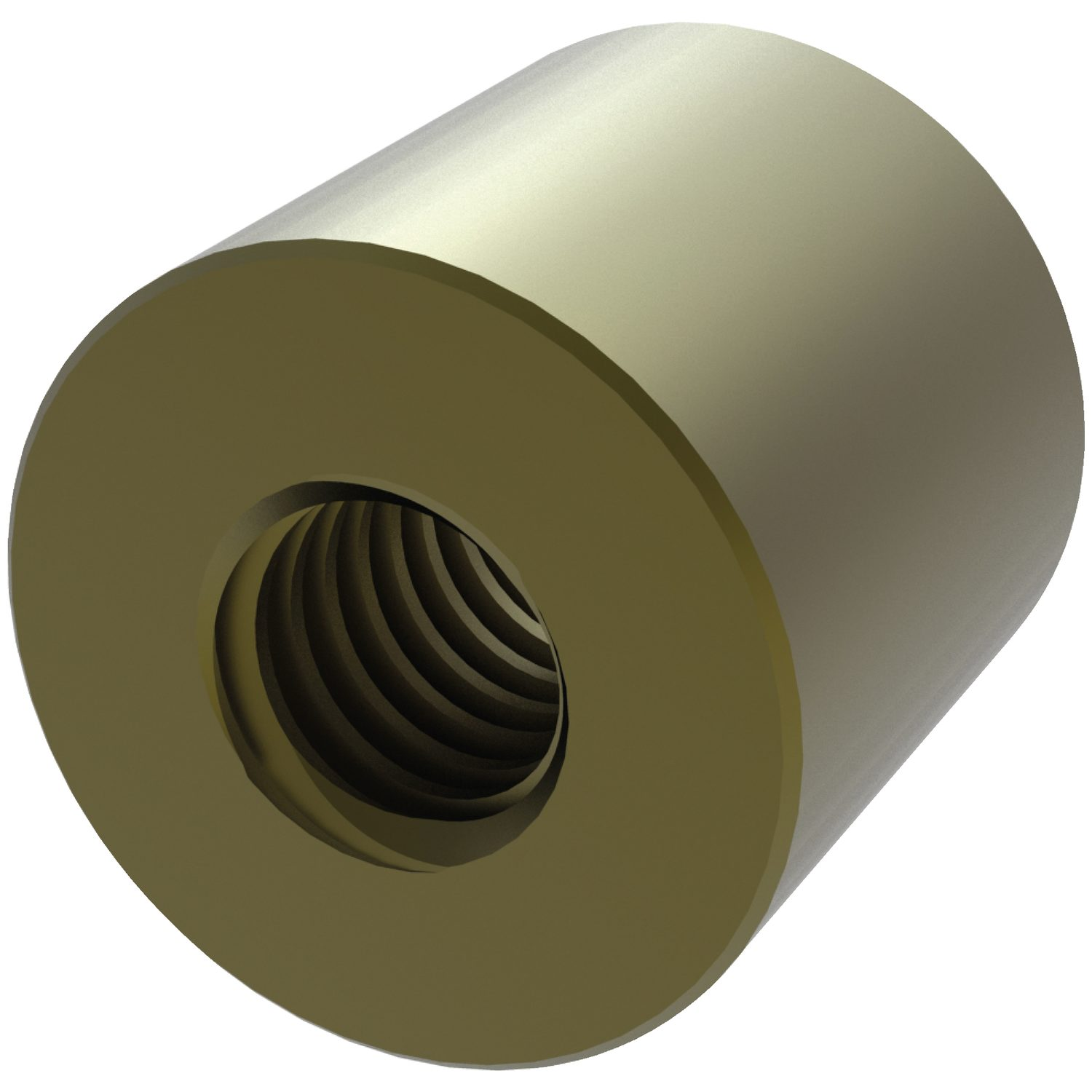 Product L1330, Cylindrical Bronze Nuts for lead screws /