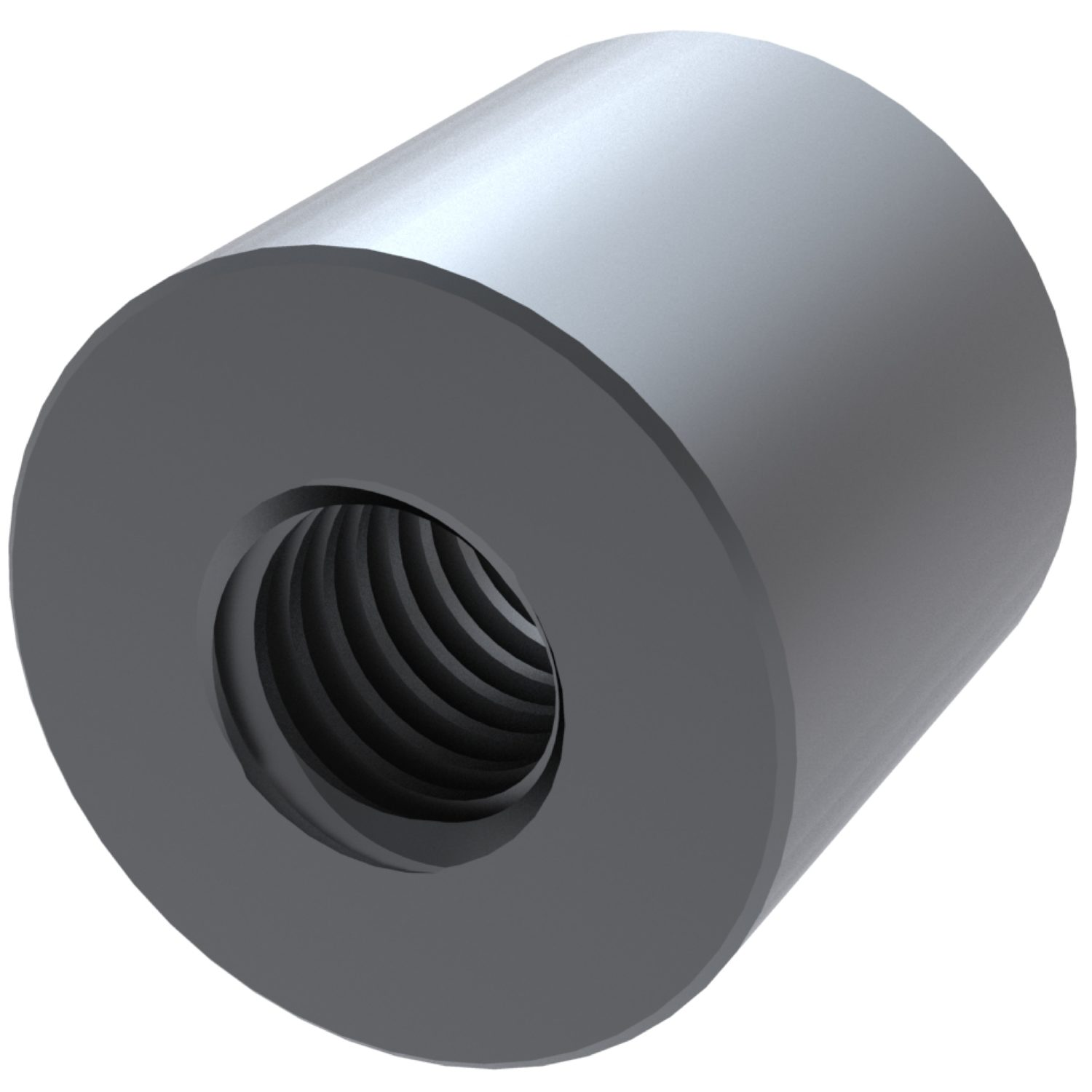 Product L1340, Long Cylindrical Steel Nuts for lead screws /