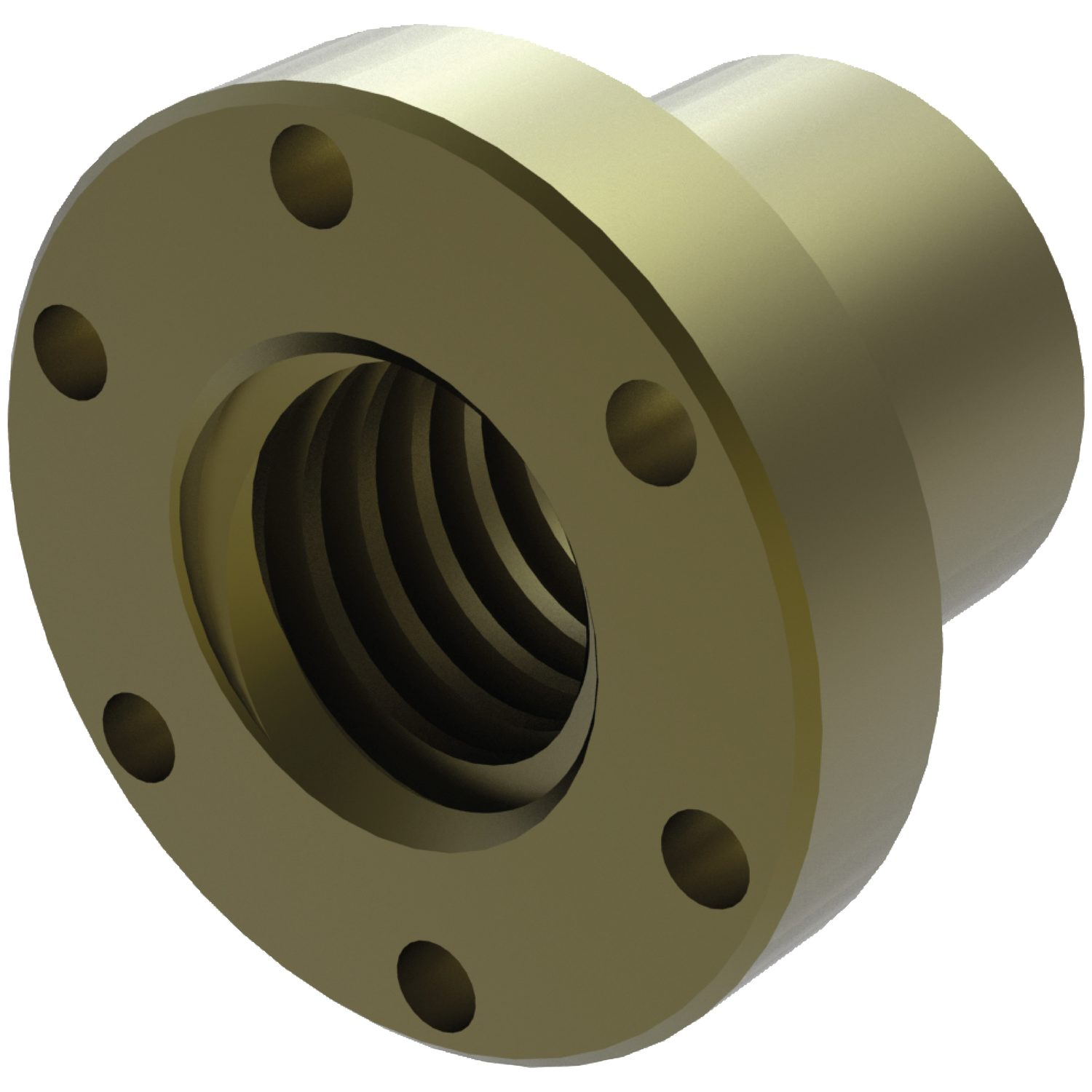 Product L1331, Flanged Bronze Nuts for lead screws /