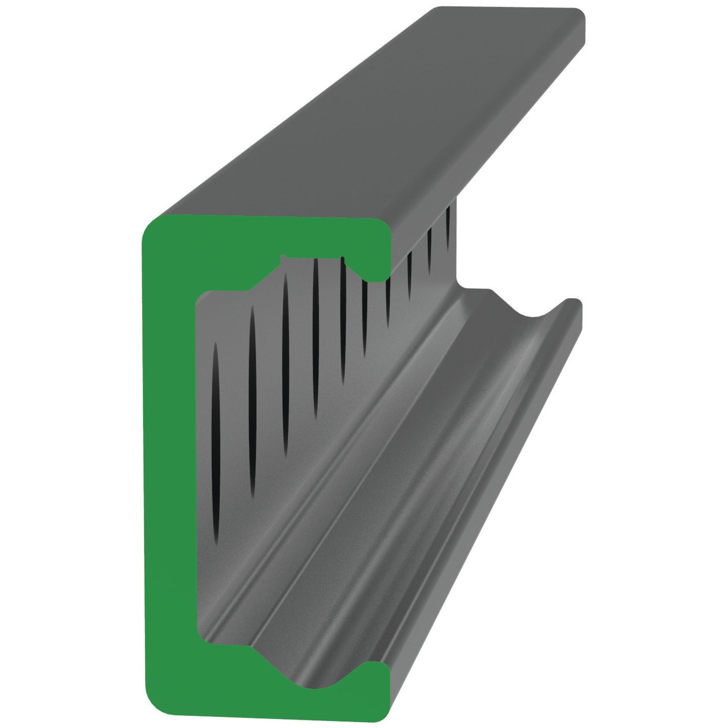 Heavy Duty K Rail Made from carbon steel. Electrolytic zinc-plated. Use Torx screws or countersunk screws with the rails.