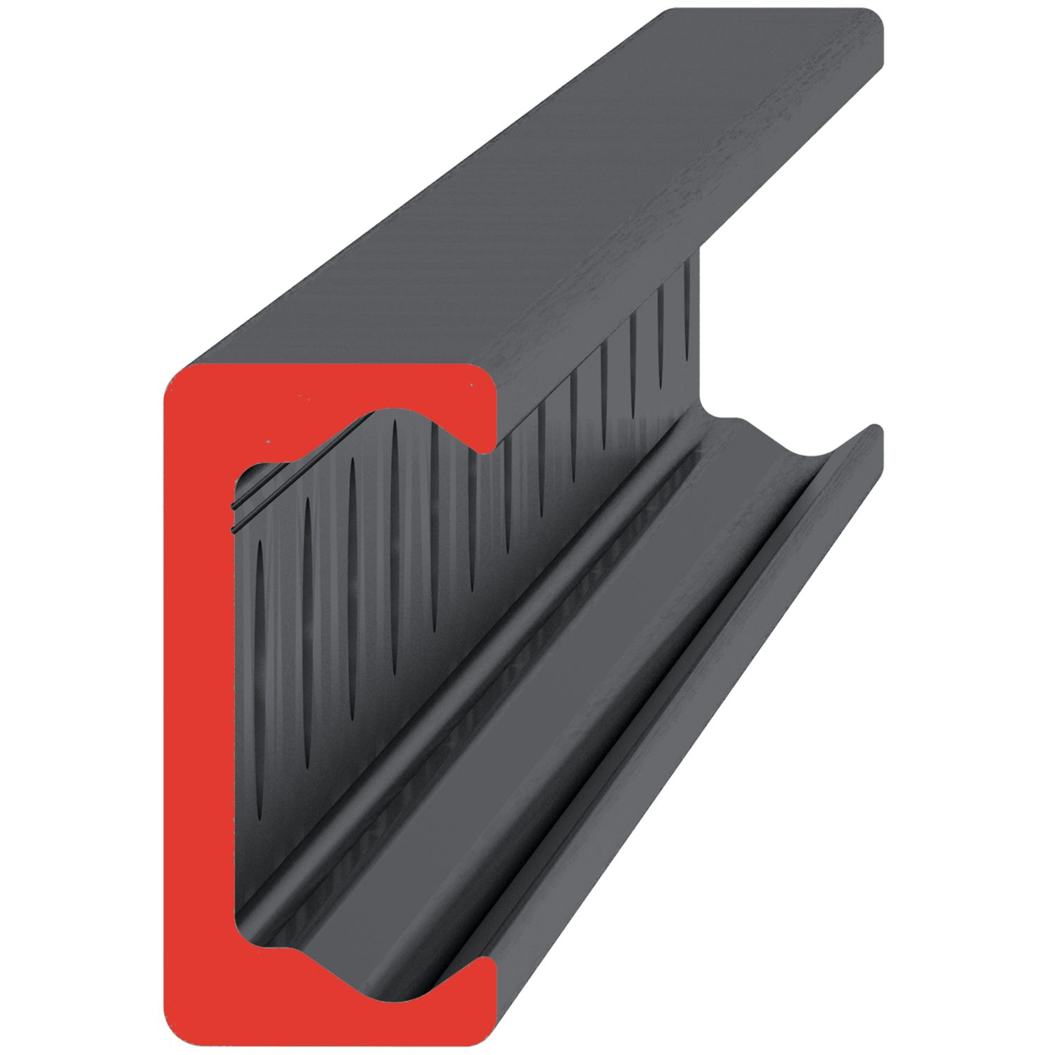 Product L1935.TL, Medium Duty T Rail countersunk holes /