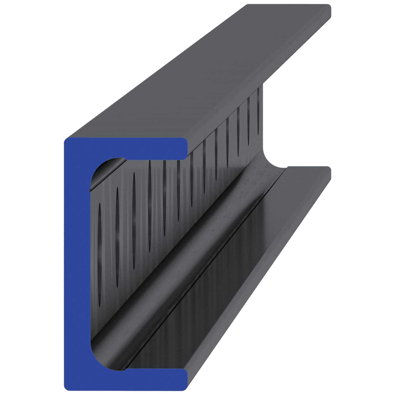 Product L1928.UL, Medium Duty U Rail counterbored holes /