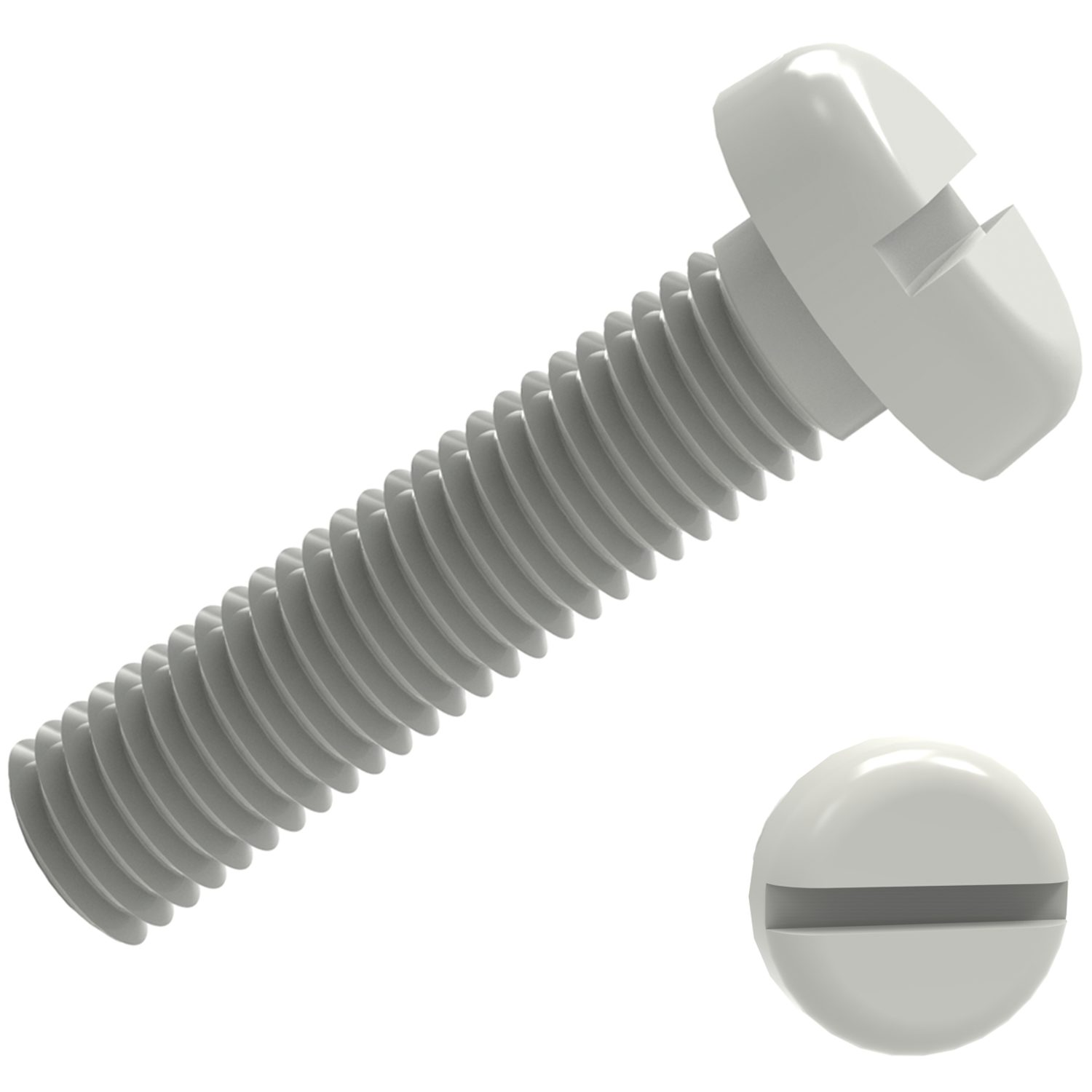 Product P0232.NL, Nylon Slot Pan Head Screws Nylon Slot /