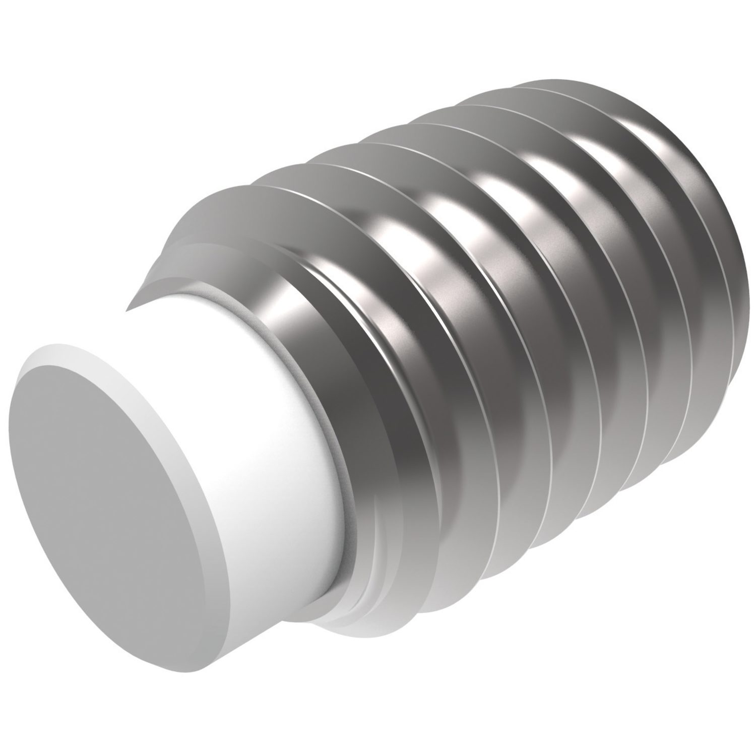 Product P0124, Nylon Tipped Stainless Set Screws hex. socket /