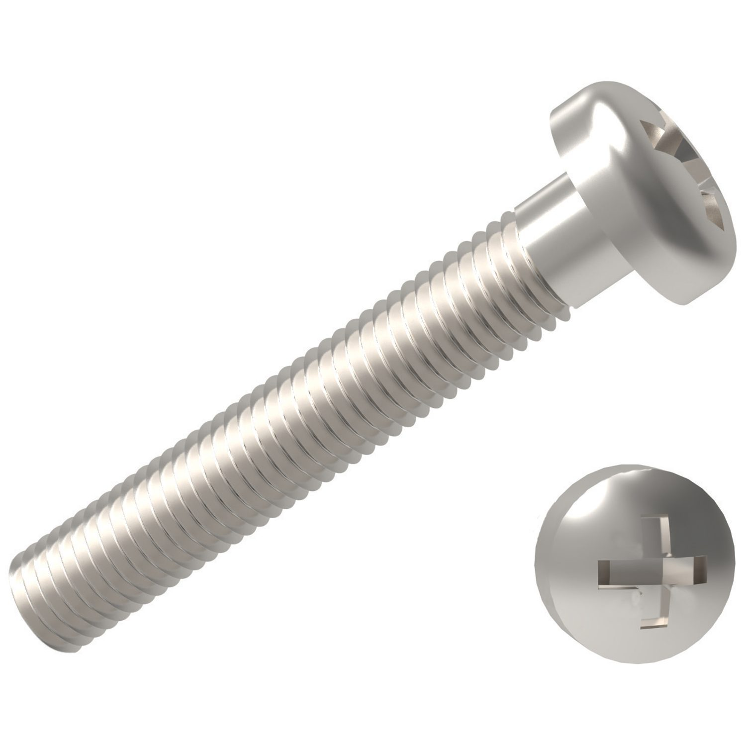 Product P0234.ZP, Phillips Pan Head Screws Phillips - steel, zinc-plated /