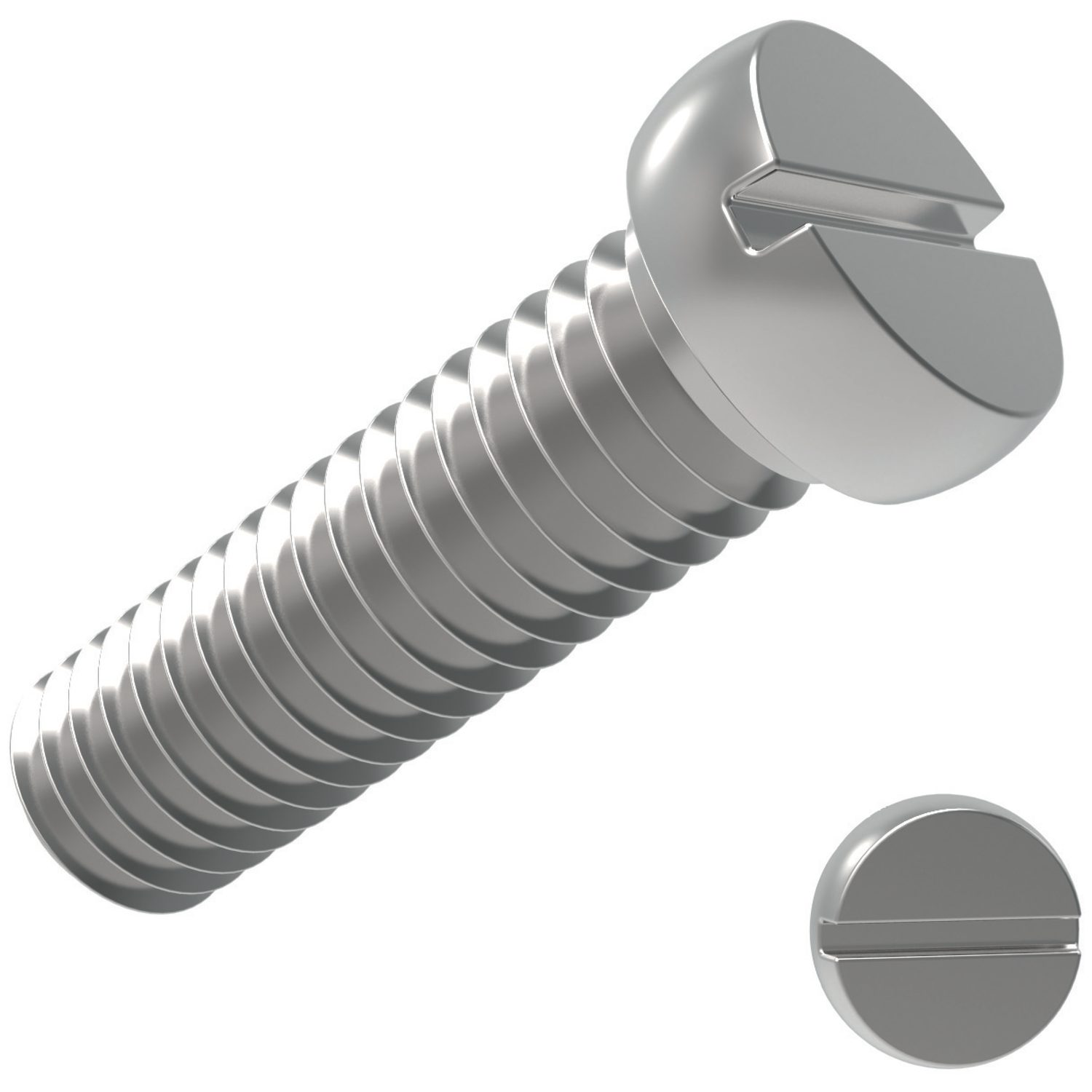 Product P0231.A2, Reduced Head Slot Pan Screws Reduced Head Slot A2 stainless /