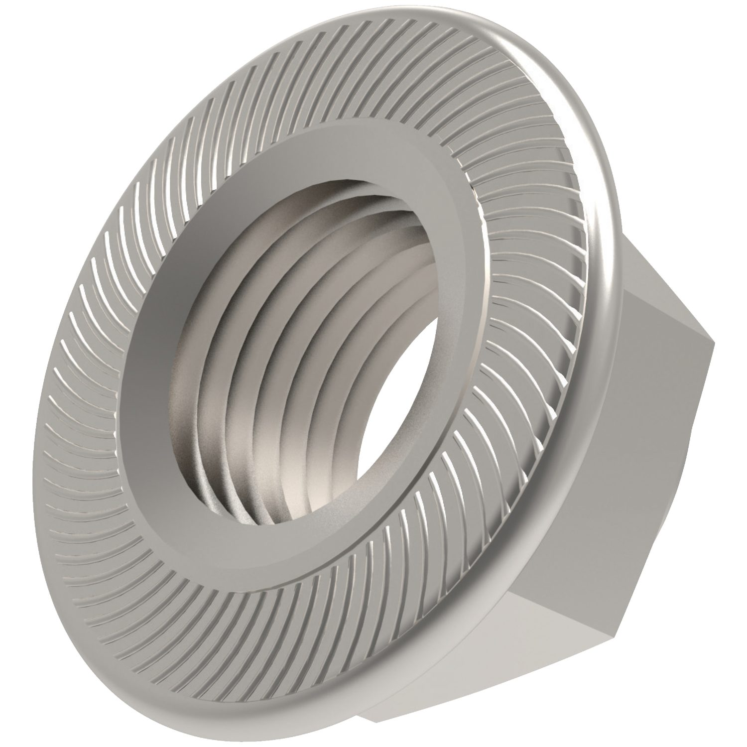 P0309.ZP - Serrated Flanged Nuts