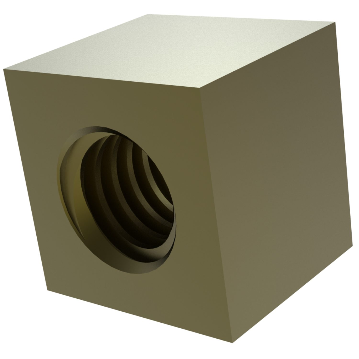 Product L1335, Square Brass Nuts for lead screws /