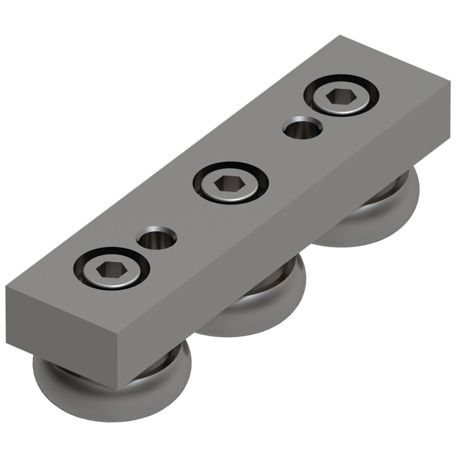 Product L1970.SB, Solid Body Steel Sliders for U rail (slave) /