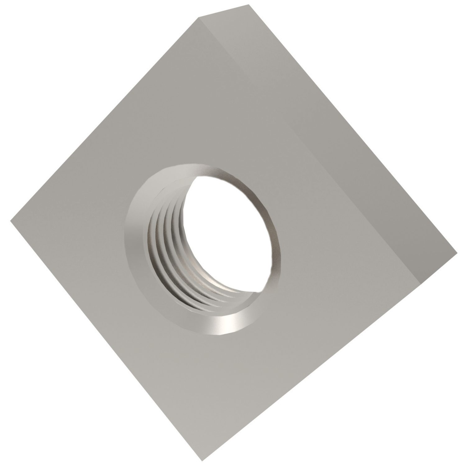 Product P0323.ZP, Square Nuts Steel, zinc-plated /